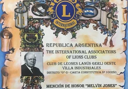 "MENCIÓN DE HONOR ""MELVIN JONES"" 2018"